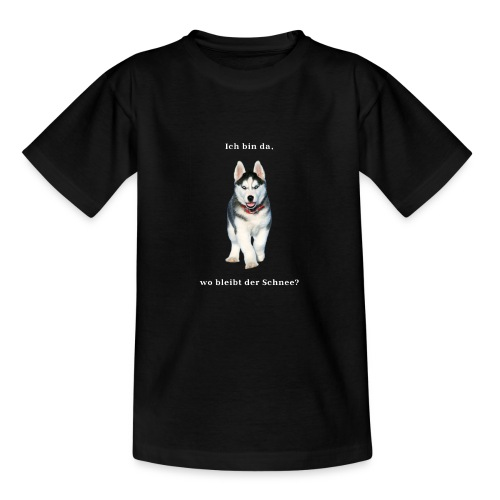 Husky Welpen mit bezaubernden Augen - Teenager T-Shirt