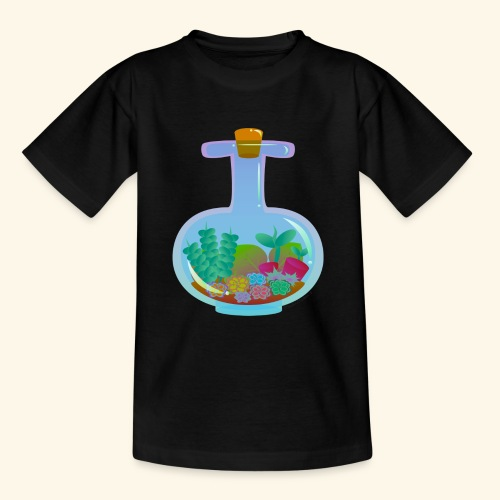 Bottled Succulents - Teenage T-Shirt