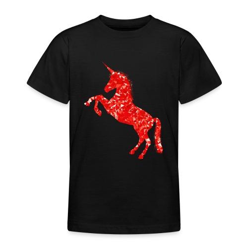unicorn red - Koszulka młodzieżowa