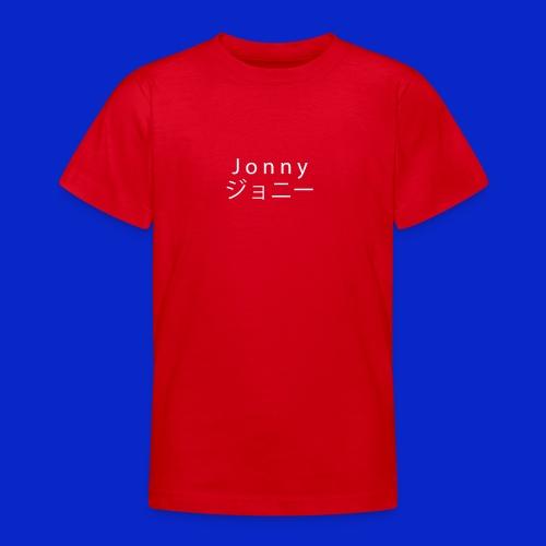 J o n n y (white on black) - Teenage T-Shirt