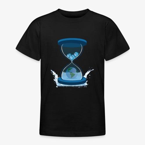 Sanduhr im Bezug auf den Klimawandel - Teenager T-Shirt