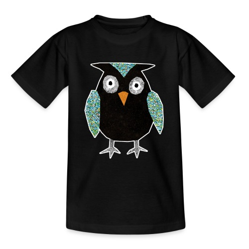 Collage mosaic owl - Teenage T-Shirt