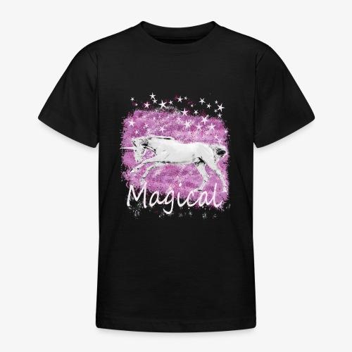 Unicorn Birthday Gift T Shirt for magical girls! - Teenage T-Shirt