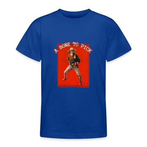 Vintage Skeleton Outlaw Cowboy - Teenage T-Shirt