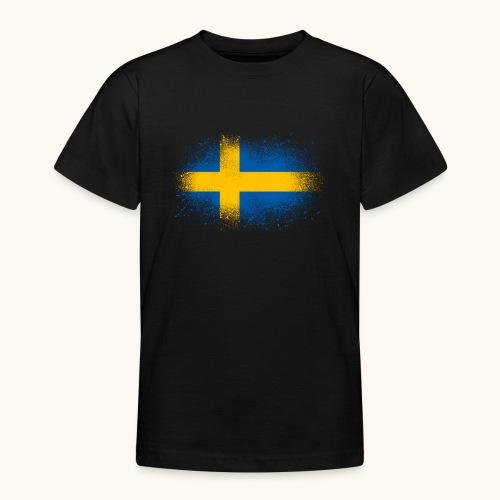 Suède cadeau drôle de drapeau suédois - T-shirt Ado