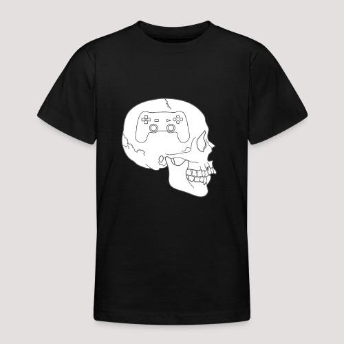 Gaming im Kopf - Totenkopf Schädel Controller - Teenager T-Shirt