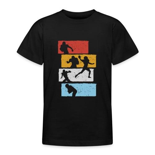 retro streifen football spieler - Teenager T-Shirt