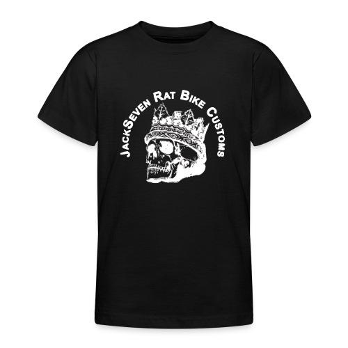 jackseven customs skull bobber chopper caferacer - Teenager T-Shirt