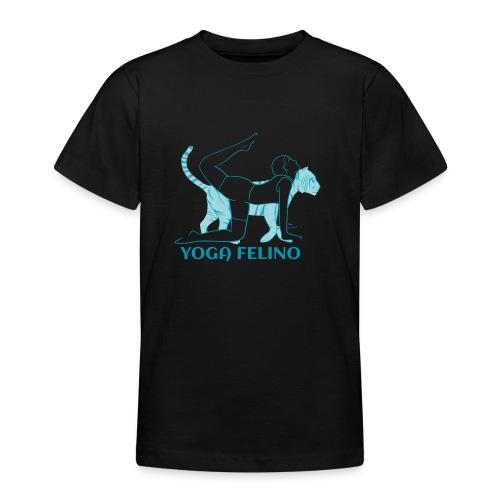 t shirt design YOGA FELINO - Maglietta per ragazzi