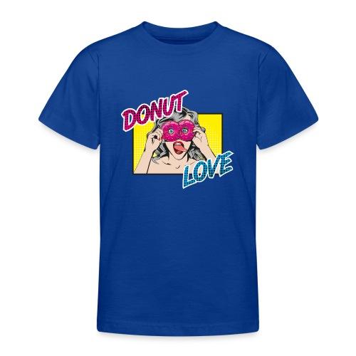 Popart - Donut Love - Zunge - Süßigkeit - Teenager T-Shirt