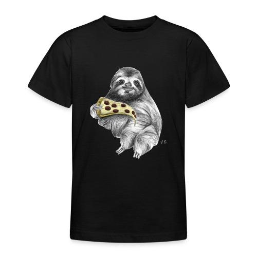 Slot Eating Pizza - Teenage T-Shirt