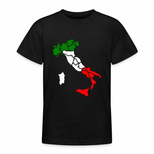 Karte von Italien - Teenager T-Shirt