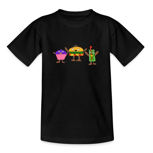 Fast food figures - Teenage T-Shirt