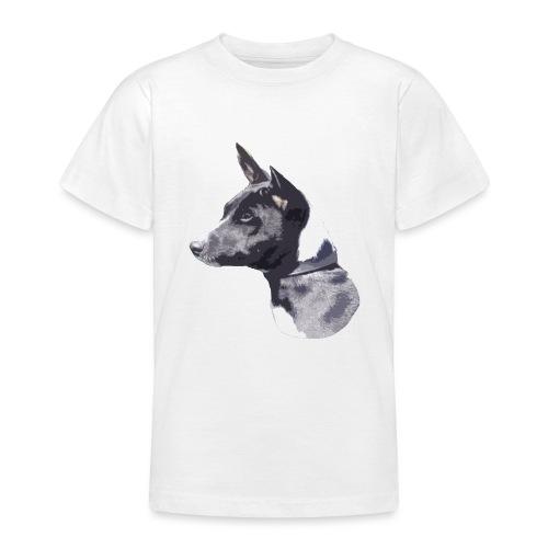 basenji black - Teenager-T-shirt