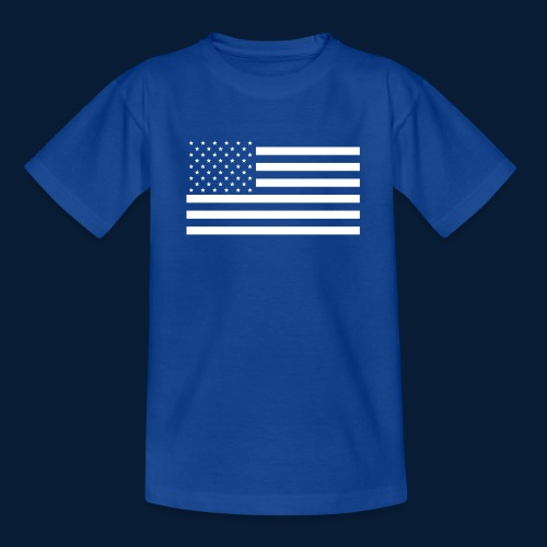 Stars and Stripes White - Teenager T-Shirt