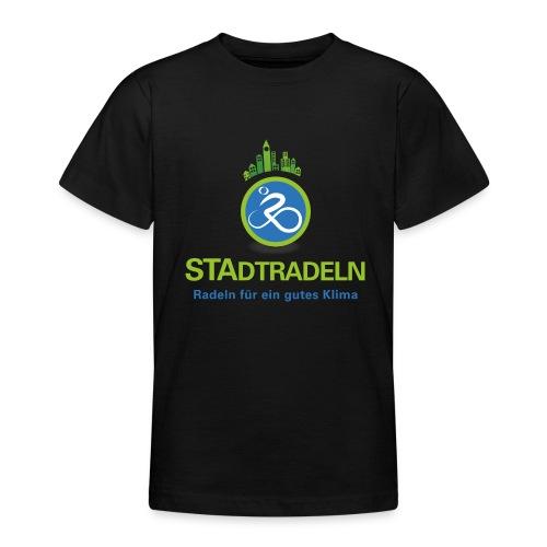 STAdtradeln Logo quadratisch Pixel - Teenager T-Shirt