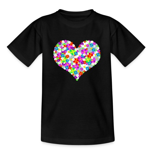 Blumenherz - Teenager T-Shirt