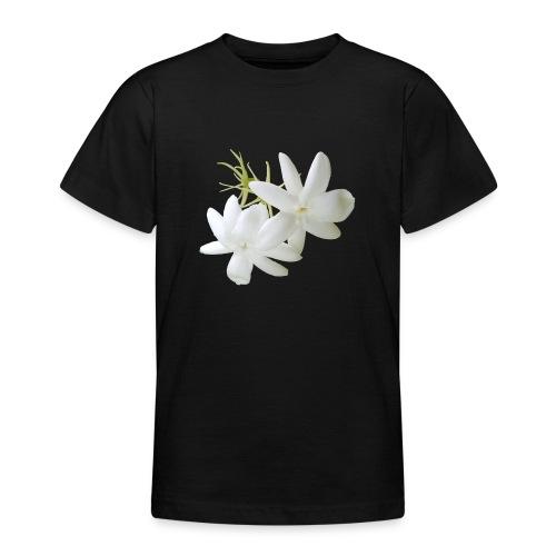 Jasmin weiss Blüte Strauch Duft Pflanze - Teenager T-Shirt