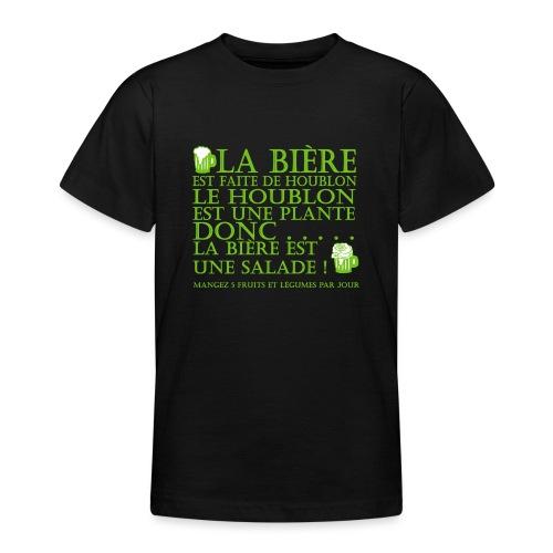 la bière est ... une salade ! - T-shirt Ado