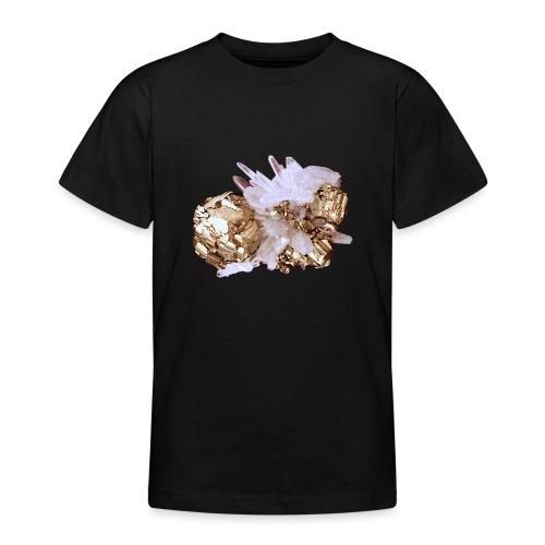 Pyrit Quarz Mineral Kristall Katzengold - Teenager T-Shirt