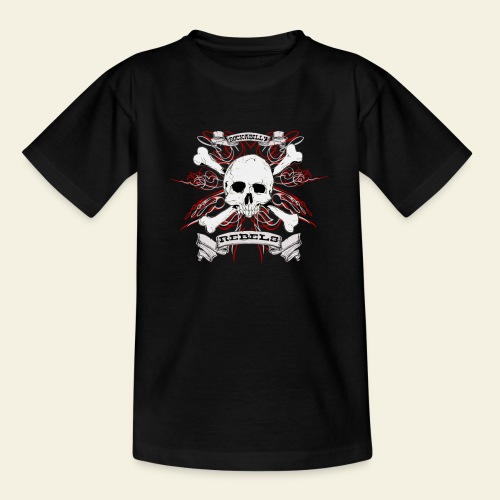 skull - Teenager-T-shirt