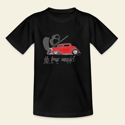 v8 true music - Teenager-T-shirt