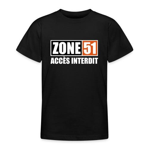 ZONE 51 - ACCES INTERDIT - T-shirt Ado