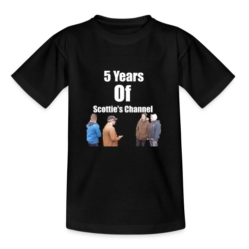 5 Years Of Scottie's Channel - Teenage T-Shirt