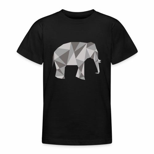 elephant géométrique - T-shirt Ado