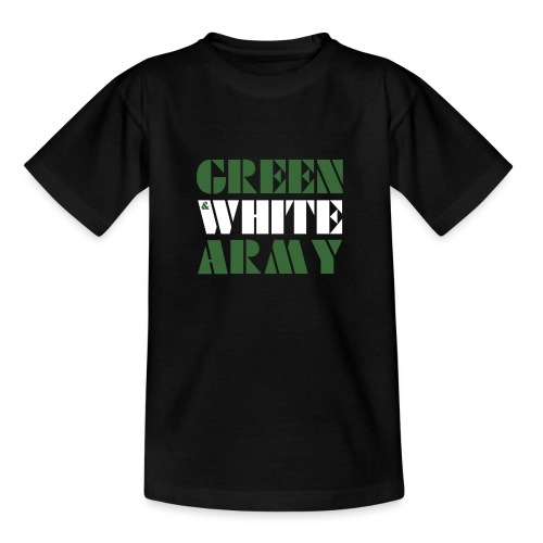 GREEN & WHITE ARMY _STENCIL_3 - Teenage T-Shirt
