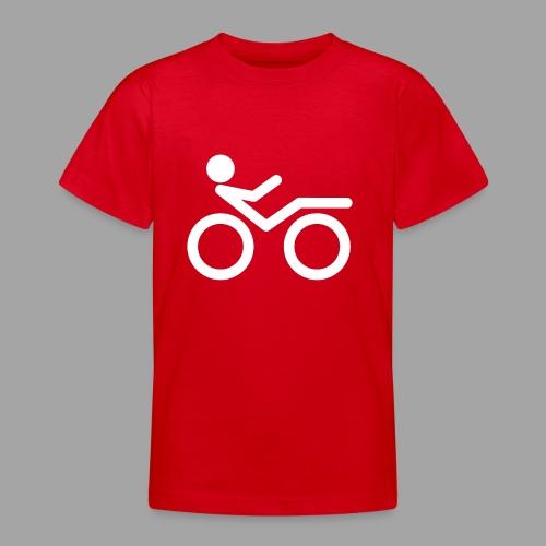 Recumbent bike white 2 - Nuorten t-paita