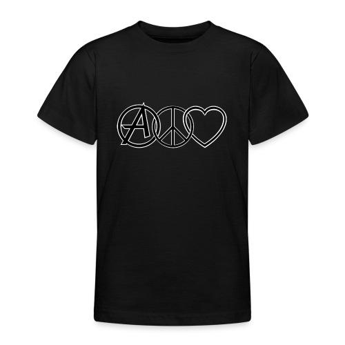 ANARCHY PEACE & LOVE - Teenage T-Shirt