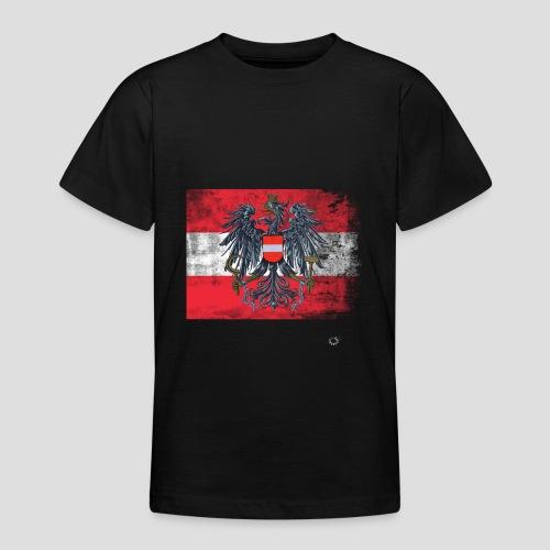 Österreich - Austria Flagge - Teenager T-Shirt