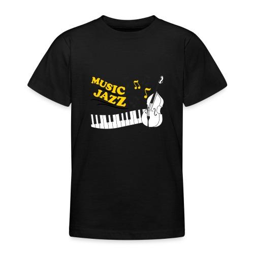 music jazz con piano e contrabbasso - Maglietta per ragazzi