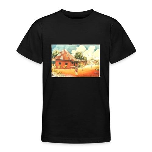 Rural African Village Scene Sofa pillow cover 44 x - Teenage T-Shirt