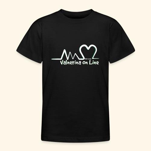 Valnerina On line APS logo bianco con ombra - Maglietta per ragazzi