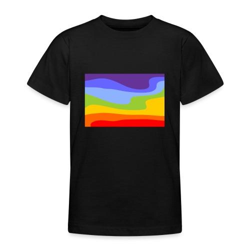 Hintergrund Regenbogen Fluss - Teenager T-Shirt