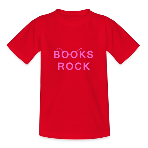 Books Rock Pink - Teenage T-Shirt