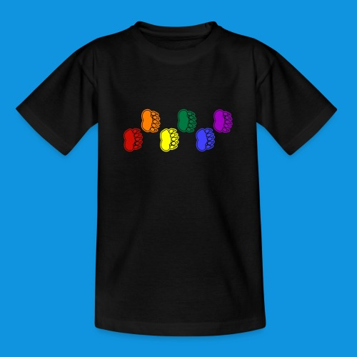 Rainbow Paws tank - Teenage T-Shirt