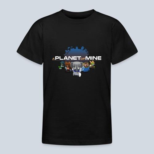 logo planetofmine dark HD - T-shirt Ado