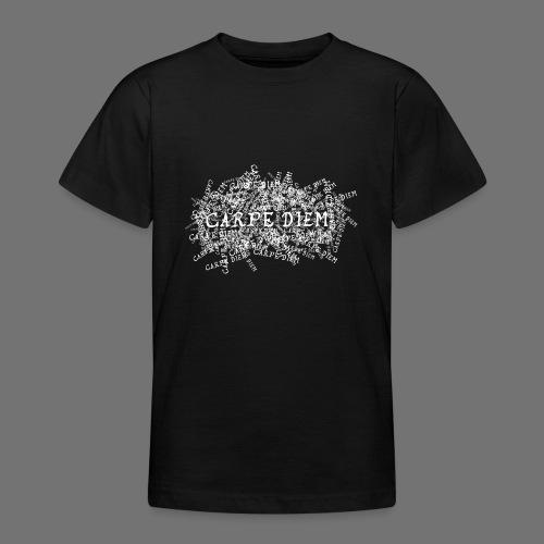 carpe diem (hvid) - Teenager-T-shirt