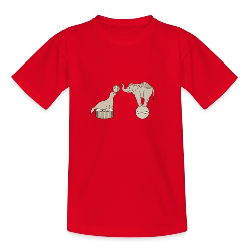 Circus elephant and seal - Teenage T-Shirt
