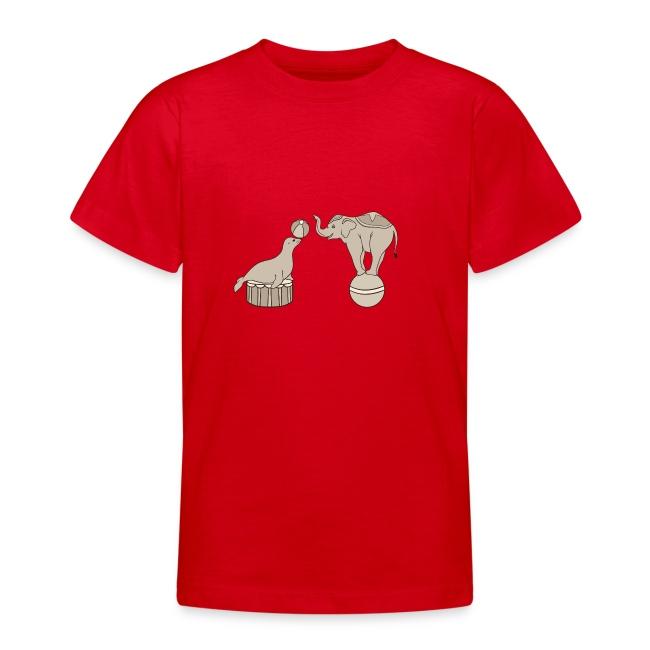 Circus elephant and seal