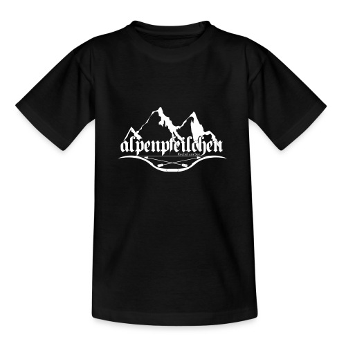 Alpenpfeilchen - Logo - white - Teenager T-Shirt