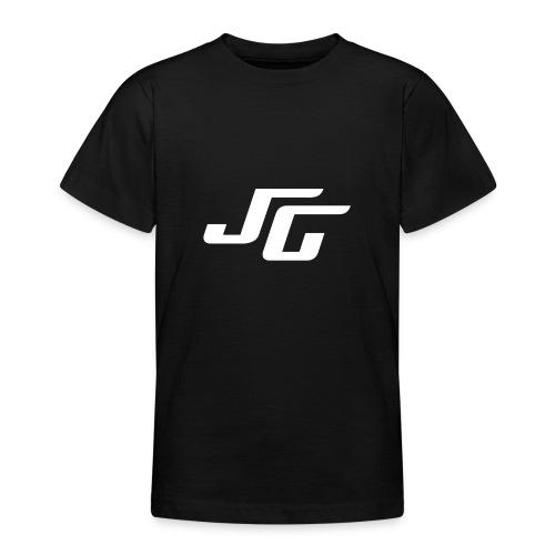 JG Logo weiss - Teenager T-Shirt