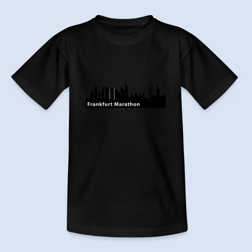 Frankfurt Marathon Skyline - Teenager T-Shirt
