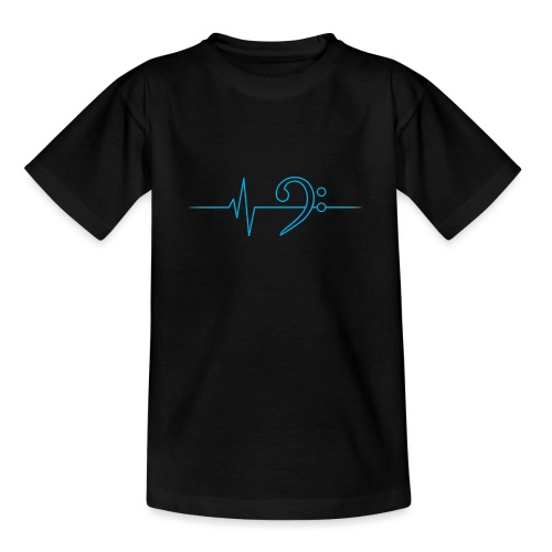 LowHeartBeat cyan - Teenager T-Shirt