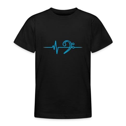 LowHeartBeatDouble cyan - Teenager T-Shirt
