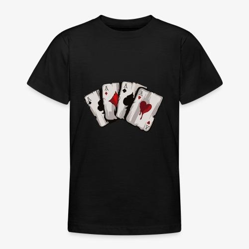 4 Asse und die NUTS - Teenager T-Shirt