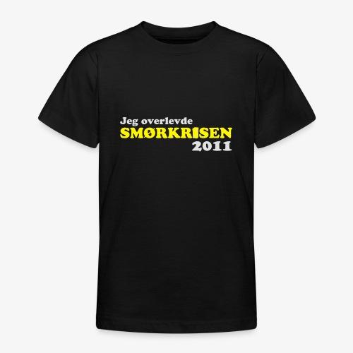 Smørkrise 2011 - Norsk - T-skjorte for tenåringer